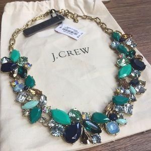 J. Crew Teal & Blue Cascading Gemstone Necklace